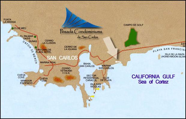 San Carlos Sonora Mexico Map.Posada Condominiums San Carlos Mexico Home Page Mexico Condos
